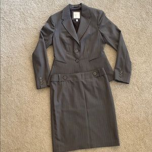 The Limited Gray Striped Skirt Suit Set